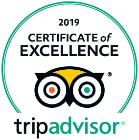2019 Certification of Excellence from TripAdvisor